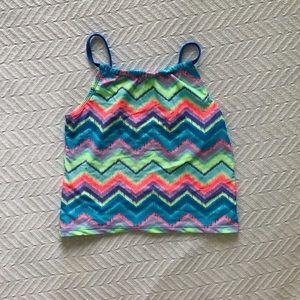 Other - Girls Vibrant Chevron Design Tankini Swim Top
